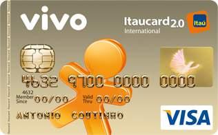 Cartão de Crédito VIVO Itaucard 2.0 Internacional Visa Pós