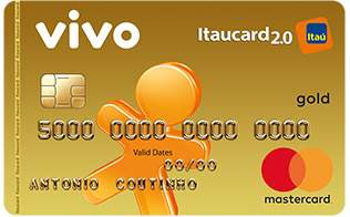 Cartão de Crédito VIVO Itaucard 2.0 Gold MasterCard Pré