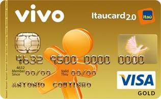 Cartão de Crédito VIVO Itaucard 2.0 Gold Visa Pré