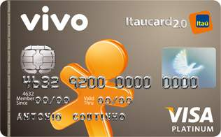 Cartão de Crédito VIVO Itaucard 2.0 Platinum Visa Pré