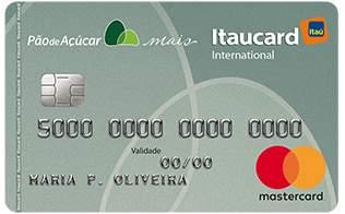 Cartão de Crédito Cartão Pão de Açúcar Mais Internacional Mastercard