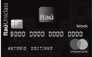Cartão Debito Itaú Uniclass Mastercard Black