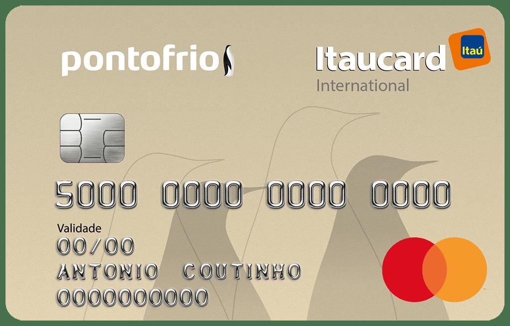 Cartão de Crédito Pontofrio Itaucard Internacional Mastercard