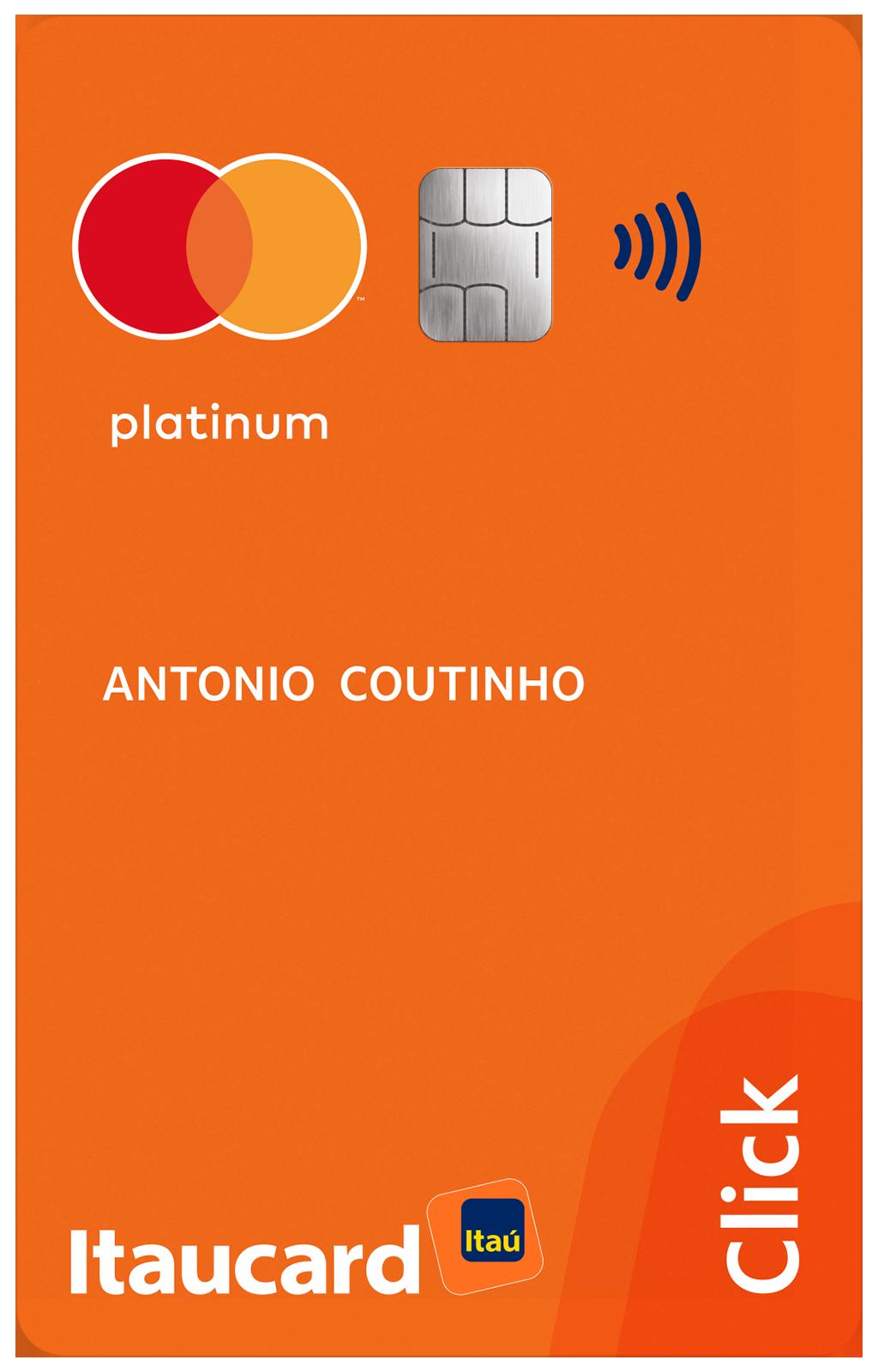 Cartão de Crédito Itaucard Click MasterCard Platinum