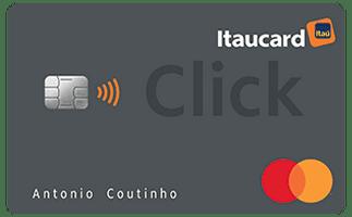 Cartão de Crédito Itaucard Click MasterCard Platinum com pontos