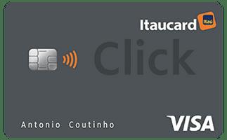 Cartão de Crédito Itaucard Click Visa Platinum com pontos