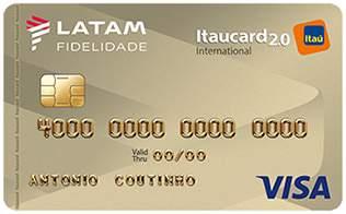 Cartão de Crédito LATAM Itaucard 2.0 Internacional Visa