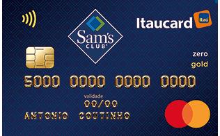 Cartão de Crédito Sam's Itaucard Gold Mastercard Zero