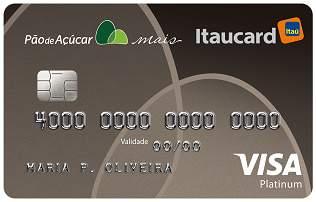 Cartão de Crédito Cartão Pão de Açúcar Mais Itaucard Platinum Visa