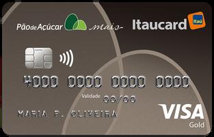 Cartão de Crédito Cartão Pão de Açúcar Mais Itaucard Gold Visa