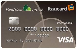 Cartão de Crédito Cartão Pão de Açúcar Mais Itaucard Internacional Visa
