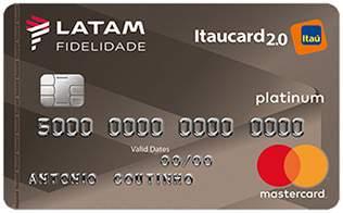 Cartão de Crédito LATAM Itaucard 2.0 Platinum Mastercard