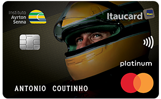 Cartão de Crédito Instituto Ayrton Senna Itaucard Mastercard Platinum