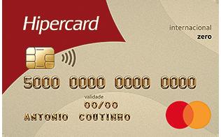 Cartão de Crédito Hipercard Internacional Mastercard Zero