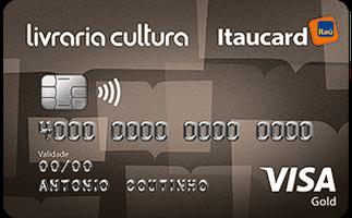 Cartão de Crédito Livraria Cultura Itaucard Gold Visa