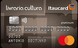 Cartão de Crédito Livraria Cultura Itaucard Platinum MasterCard