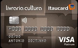 Cartão de Crédito Livraria Cultura Itaucard Platinum Visa